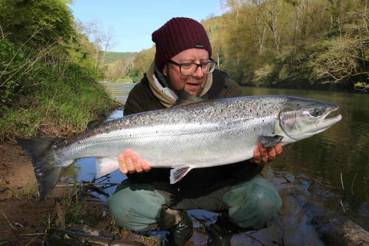 Martin Bowler salmon fishing